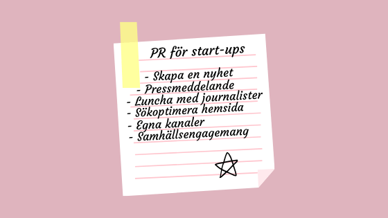 PR-tips för start-ups