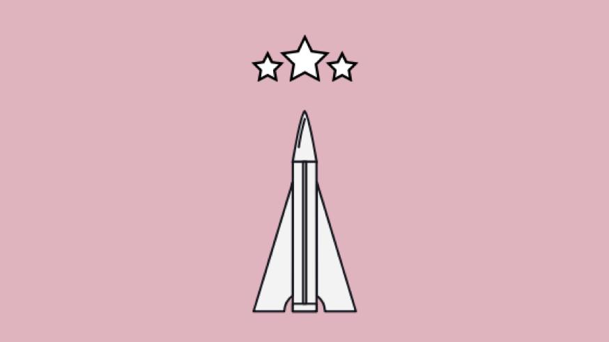 Raket på väg mot stjärnorna